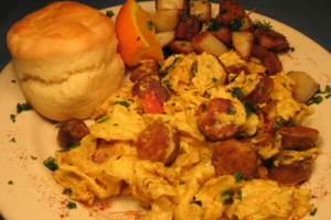 The European Scramble (Scrambled Omelet)